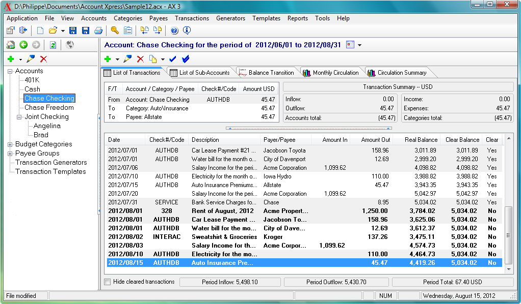 Account Xpress Lite screenshot