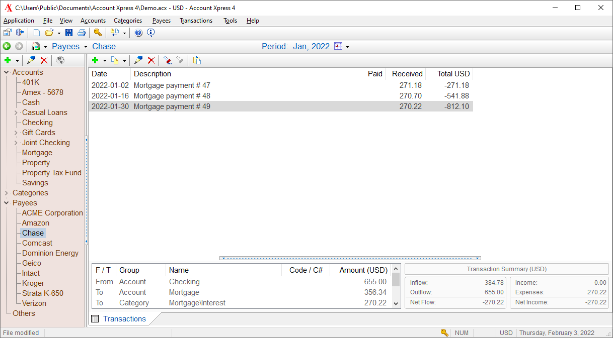 Account Xpress Lite full screenshot